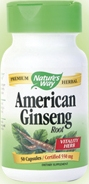 Ginseng, American 550mg Capsules (50-count)
