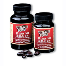 Ginkgo Biloba Extract, 60 mg (50 Softgels)
