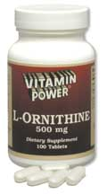 L-Ornithine 500mg (50 tablets)