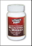 Children's Multi-Vites with Minerals (100 Tablets)